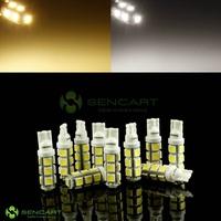 T10 13-SMD 5050 LED DC 12V 2.9W White/Warm whiteLights 6000K Car Inverted Side Wedge bulbs FreeShipping 10pcs/lot