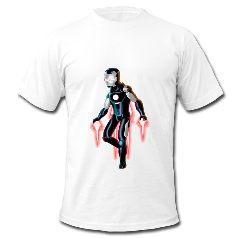 Iron Man Comic Logo Tee Shirt Comic Iron Man