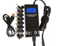 Free shipping 100% Guarantee Universal  Notebook Power Adapter /USB port &LCD  Connector can be customized