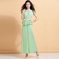 free shipingSpring 2014 slim casual jumpsuit pants jumpsuit trousers female l033su14