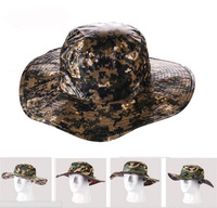 Brand new Outdoor summer Dual-use camouflage Jungle Fishing Sunscreen hat ,army Tactical hat cap helmet