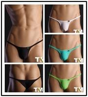 2014 new mens sexy half back briefs underwear hot gay underwear brand men's briefs fashion bikini bottom penis