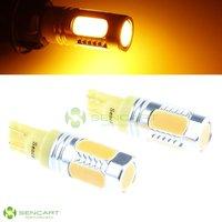 Yellow 7.5W T10 W5W 168 12V High Power LED Light License Door Plate Bulb Lamp