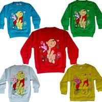 Retail 2015 New Design children's cartoon T-shirt Winnie Tigger  100% cotton Girls Boys T-shirt Free Shipping