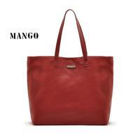 Timed promotion ! Womens Pu leather fashion brand Mango bag new 2014 brief female soft shoulder bag handbag Black&Coffee&Red