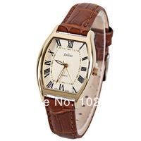 2014 hot sale Julius fashion Women Watch 12 Roman Numbers Indicate with Elliptical Dial Real Leather Watch Band 3TM waterproof