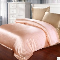 Heavy Lilvery Beige Champagne White Color 100% mulberry silk duvet cover 19 mm patchwork  Queen size
