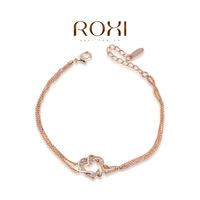 2060012355 Wholesale ROXI Fashion Accessories Jewelry Hearts and Arrows Full CZ Diamond Austria Crystal Heart Bracelet for Women