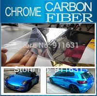 Blue Car Chrome Carbon Film Vinyl Glossy Film Car Wrapping Sticker Mirror Air Bubbles Covers 5M 10M 20M 30 Meters Fedex #A112D