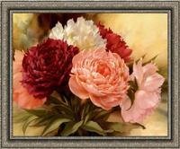 Diy Diamond Painting Crystal Kit Flower Peony Handmade Square Drill Full Rhinestone Pasted Embroidery Stitch Decorative Painting