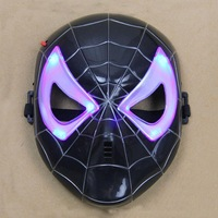 Spider Man Mask LED Light Up Spiderman Halloween Cosplay Toy For Kids Child Party Proms Supplies Adults Masks Electronic Toys