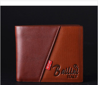No.1 quality men wallets, Men short wallets, Genuine Leather purse,brand wallets HW0014, free shipping