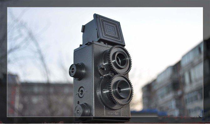 New 2014 DIY Adult Science Vo1.25 Twin Lens Reflex TLR vintage film Camera Holga Recesky reflex camera(China (Mainland))