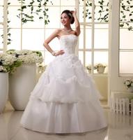 The bride wedding dress formal dress 2013 sweet princess wedding dress tube top vintage lotus leaf xh bandage