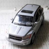 Brand New KINGSMART 1/34 Scale Diecast Car Toys Silver Color Dodge Caliber Metal Pull Back Car Toy For Children Loose