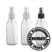 AA99 R20 100ml PET Atomizer Clear Plastic Refillable Spray Bottles for Perfume Lotion Flowerwater Transparent 3 Color Nozzles