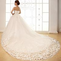 2014 new arrival wedding dress formal dress luxury rhinestone princess tube top bandage train 1301