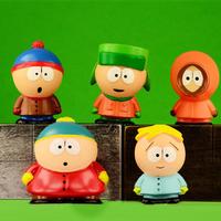 5 Pcs/Set South Park Figure Dolls Stan Kyle Eric Kenny Leopard PVC Mini Classic Toys For Kids Gift Free Shipping