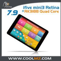 Ifive mini3 Retina RK3188 Quad Core Android 4.4 ultra slim tablet pc 7.9 inch 2048*1536 Dual Camera 5G WIFI 2GB 16GB Bluetooth