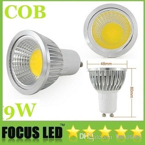 Wholesale - 2014 Hot Sales GU10 9W Dimmable Led COB Bulbs Light 550 Lumens 120 Angle E27 E26 GU5.3 Warm/Cool White Energy Saving(China (Mainland))