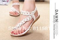 MS 2014 Bohemia women's pinch flat shoes leuconostoc flip-flop sandals flower flat sandals for women SLD047