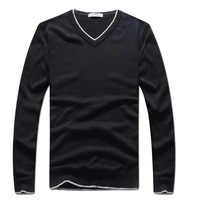 HROS Recommend 2014 Real V neck Pullover Wool Sweater Spring New Design Brand Mans Knit Shirts Warm Sports Elasticity Sweaters
