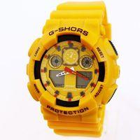 Watches Multifunctional Waterproof Electronic Sports Luminous watch Fashion Clock Free Shipping Wholesale