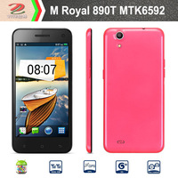 "New 2014 M Royal 809T+ Smartphone 5.0"" OGS Screen MTK6592 Octa Core 1.7GHz Android 4.2 Octacore phone- Pink free shipping"