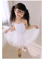 Free Shipping 2014 Children Fashion Princess Dress All-match Tulle Dress Cute Tank Dress Layered Dress For Baby Girl