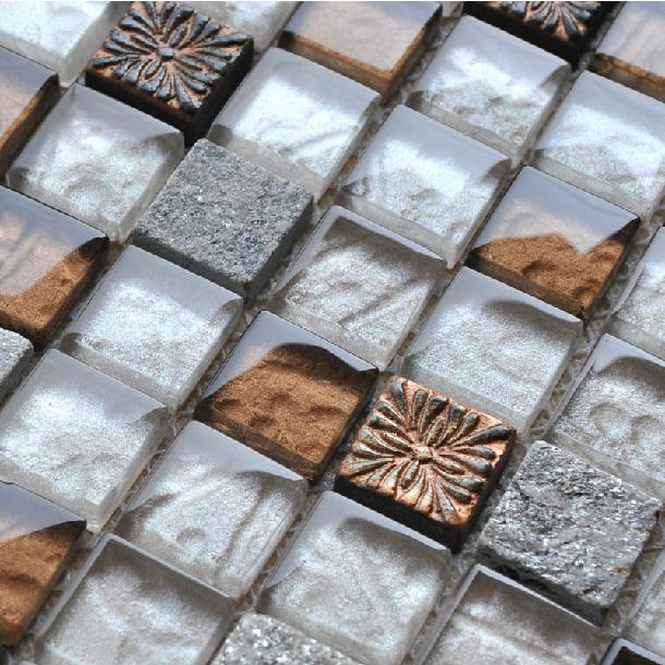 Steen glas backsplash tegels grijs graniet tegel backsplash keuken ...