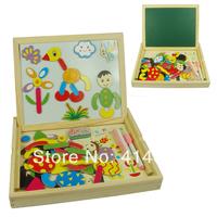Hot magnetic wonderfully versatile painter fantastic wooden easel puzzle toy children gift