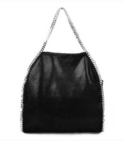 Lowest price!hot!!2014 newest Free shipping stella mccartneyiy FALABELLA CHAIN BAG WOMEN'S HANDBAG black