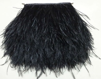 Free Shipping 10meters 8-10cm width Black Ostrich Feather Ribbon feather fringe Feather trimming