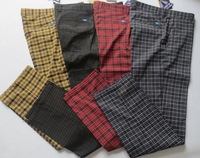 Free shipping Jl Golf clothes shorts trousers spring and autumn plaid pants male Golf clothes elastic
