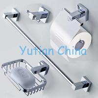 Free shipping,304# Stainless Steel Bathroom Accessories Set,Robe hook,Paper Holder,Towel Bar,Soap basket,bathroom sets,YT-10700B