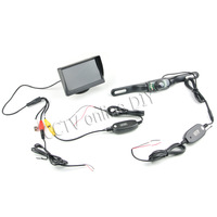 """4.3"""" Car Rear View Color Monitor+ 2.4G Wireless Car Number Plated IR Camera Rearview Back up Parking System"""