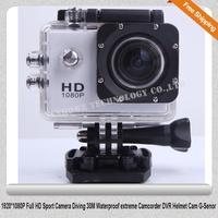 Free shipping!!1920*1080P Full HD Sport Action Camera SJ4000 Diving 30M Waterproof extreme Camcorder DVR Helmet Cam G-Senor