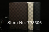 2014 New e-Books Case For ipad 5 Elegant Tartan Design PU Leather Stand Case for Apple iPad air Cover Protective Sheel for ipad5