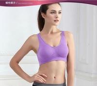 1 piece Free shipping, ladies underwear cotton sports bra, Seamless without steel prop yoga sleep underwear