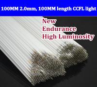 Free shipping 50pcs 100MM length LCD CCFL lamp backlight tube,100MM 2.0mm, 100MM length CCFL light