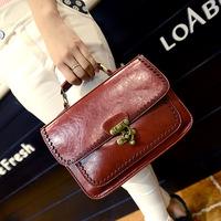 2014 spring one shoulder cross-body women's handbag fashion vintage small messenger bag double faced bag female handbag