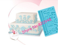 Free Shipping Emboss Lace Rose Bead Leaf Flower Silicone Mold Fondant Cake Decoration Baking Tool Mould