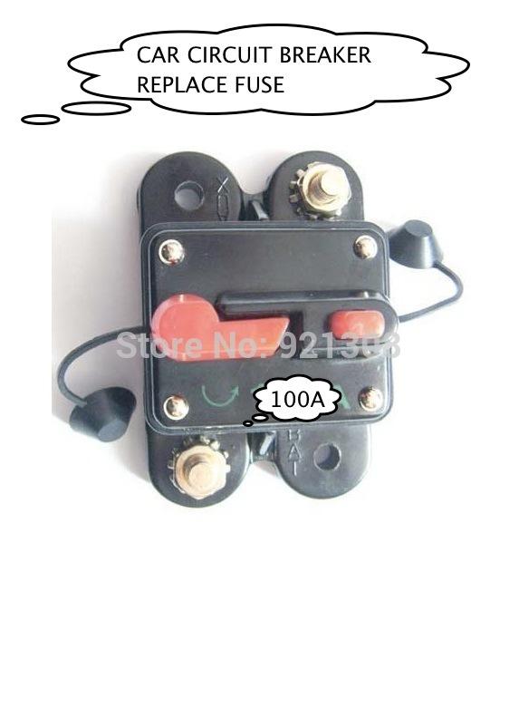 Marinha Auto 100 AMP 12 V DC CAR disjuntor substitua o fusível de áudio 100A 12VDC(China (Mainland))