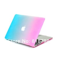 "For Macbook Pro 13"" Pro 15""Case,Matt Frosted Rubberized Rainbow Cover Laptop Protective Hard Case Rose/White/Blue Bag Backpack"