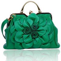 2014 women's spring handbag rose big flower bag fashionable casual all-match handbag messenger bag