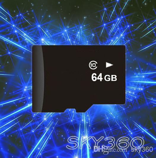 Best Selling high speed 64GB Class 10 Micro SD TF Memory Card with Adapter Retail Packaging Flash SD 200pcs(China (Mainland))