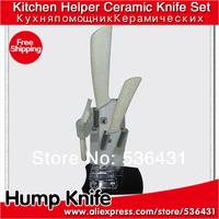 """4"""" 6 """"inch White roast flowers Holder Ceramic Knife Set + Peeler + Holder kitchen ceramic knives"""