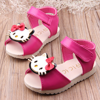 New 2014 kids sandals for baby first walker child summer sandals for girls cartoon bow sandals soft outsole baby sandals 11-14