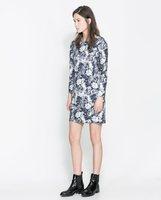 2014 Spring floral print women dress ; girl flower retro dresses ; vestido de festa ; saias femininas ; roupas formales