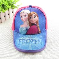 hot! 10pcs/lot Kids girl frozen hats basketball caps  free shippng